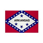 Arkansas Flag Rectangle Magnet (100 pack)