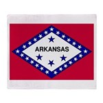 Arkansas Flag Throw Blanket