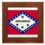 Arkansas Flag Framed Tile