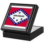 Arkansas Flag Keepsake Box