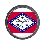 Arkansas Flag Wall Clock