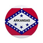Arkansas Flag Ornament (Round)