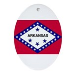 Arkansas Flag Ornament (Oval)