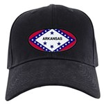 Arkansas Flag Black Cap