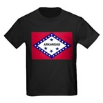 Arkansas Flag Kids Dark T-Shirt