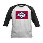 Arkansas Flag Kids Baseball Jersey