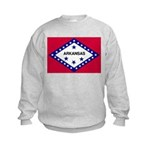 Arkansas Flag Kids Sweatshirt
