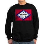 Arkansas Flag Sweatshirt (dark)