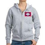 Arkansas Flag Women's Zip Hoodie