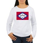 Arkansas Flag Women's Long Sleeve T-Shirt