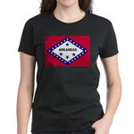 Arkansas Flag Women's Dark T-Shirt