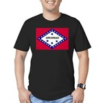 Arkansas Flag Men's Fitted T-Shirt (dark)