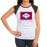 Arkansas Flag Women's Cap Sleeve T-Shirt