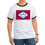 Arkansas Flag Ringer T