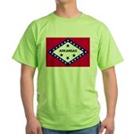 Arkansas Flag Green T-Shirt