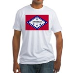 Arkansas Flag Fitted T-Shirt