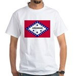 Arkansas Flag White T-Shirt