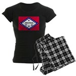 Arkansas Flag Women's Dark Pajamas