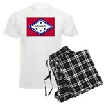 Arkansas Flag Men's Light Pajamas