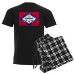 Arkansas Flag Men's Dark Pajamas