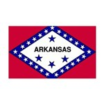 Arkansas Flag 38.5 x 24.5 Wall Peel