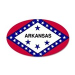 Arkansas Flag 38.5 x 24.5 Oval Wall Peel