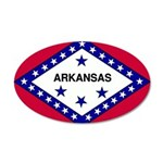 Arkansas Flag 22x14 Oval Wall Peel