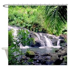 Hahalawe Falls Maui Tropical Shower Curtain