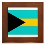Bahamas Flag Framed Tile