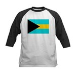 Bahamas Flag Kids Baseball Jersey