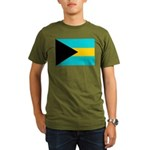 Bahamas Flag Organic Men's T-Shirt (dark)