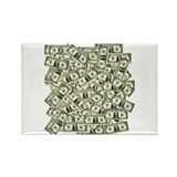Money! $100 to be exact! Rectangle Magnet (100 pac