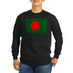 Bangladesh Flag Long Sleeve Dark T-Shirt