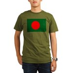 Bangladesh Flag Organic Men's T-Shirt (dark)