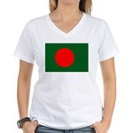 Bangladesh Flag Women's V-Neck T-Shirt