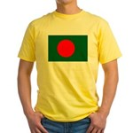 Bangladesh Flag Yellow T-Shirt