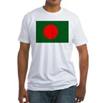 Bangladesh Flag Fitted T-Shirt