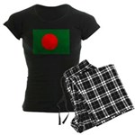 Bangladesh Flag Women's Dark Pajamas