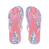 Pink Awareness Ribbon Flip Flops
