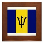 Barbados Flag Framed Tile