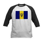 Barbados Flag Kids Baseball Jersey