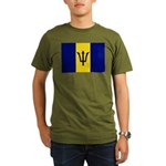 Barbados Flag Organic Men's T-Shirt (dark)