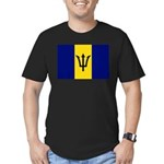 Barbados Flag Men's Fitted T-Shirt (dark)