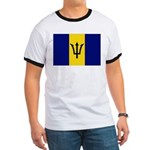 Barbados Flag Ringer T