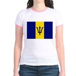 Barbados Flag Jr. Ringer T-Shirt