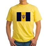 Barbados Flag Yellow T-Shirt