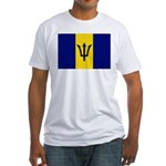 Barbados Flag Fitted T-Shirt