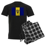 Barbados Flag Men's Dark Pajamas