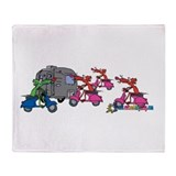 Moped Mob by Tamara Warren Throw Blanket