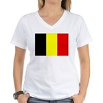 Belgium Flag Women's V-Neck T-Shirt